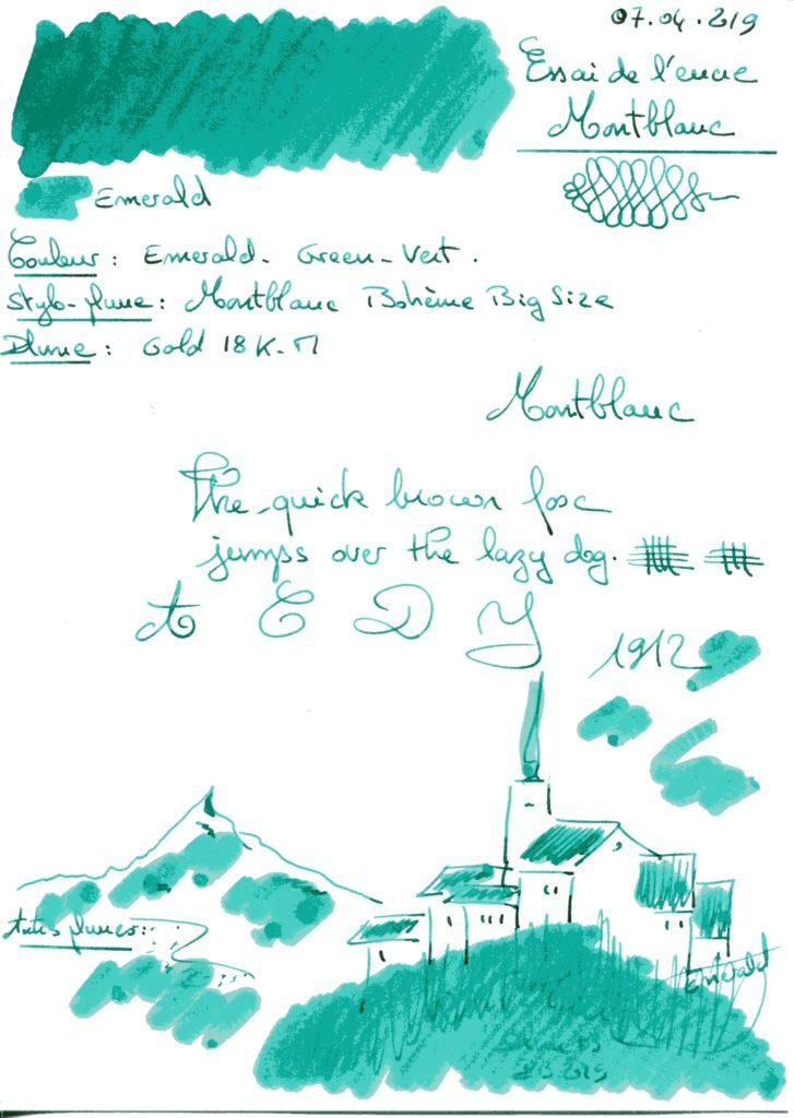 Emerald Ink Montblanc