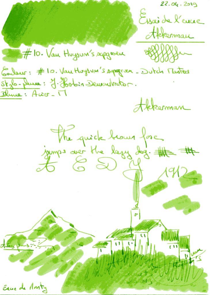 Van Huysums sapgroen Dutch Masters Ink Akkerman