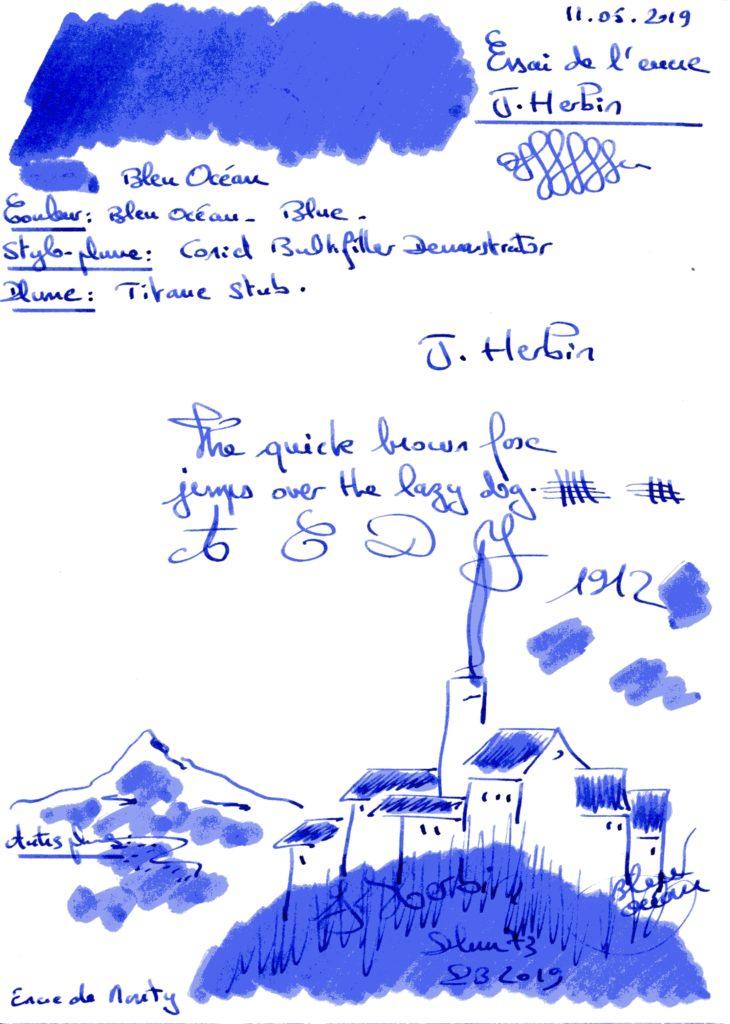 Bleu Ocean Ink J Herbin