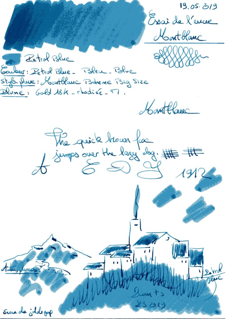 Petrol Blue Ink Montblanc