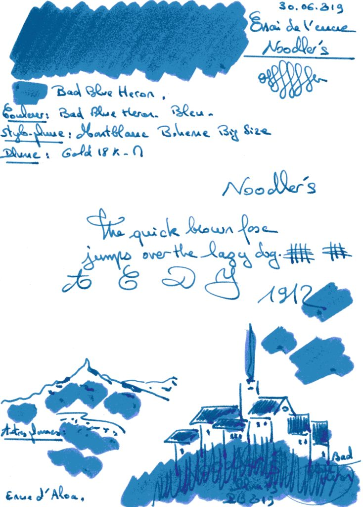 Bad Blue Heron Ink Noodlers