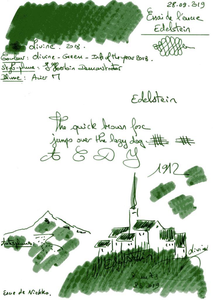 Olivine Ink Edelstein