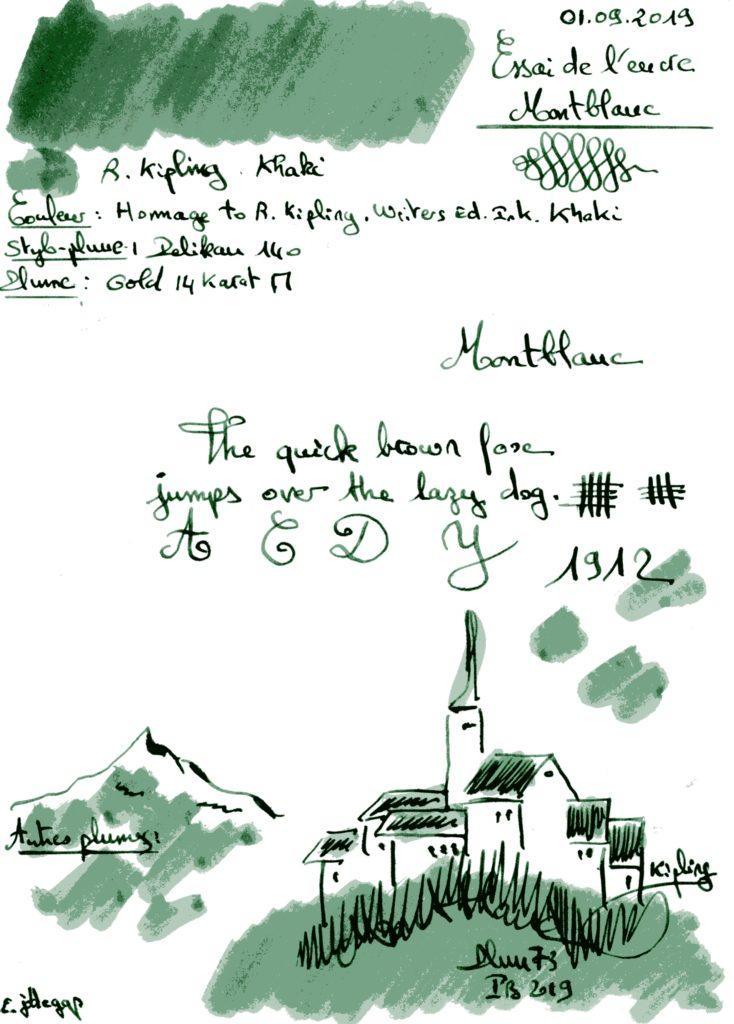 R Kipling Ink Montblanc