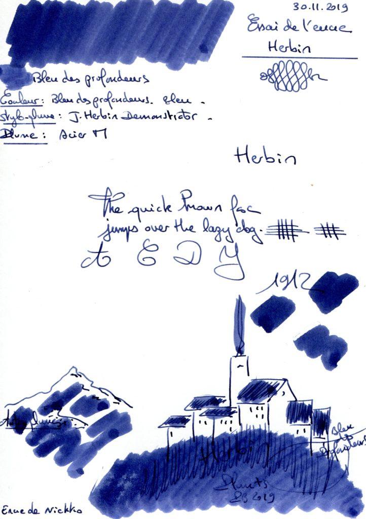 Bleu des profondeurs Ink Herbin