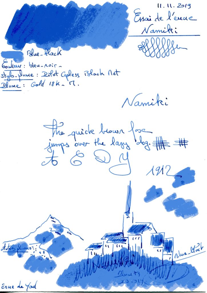 Blue black Ink Namiki