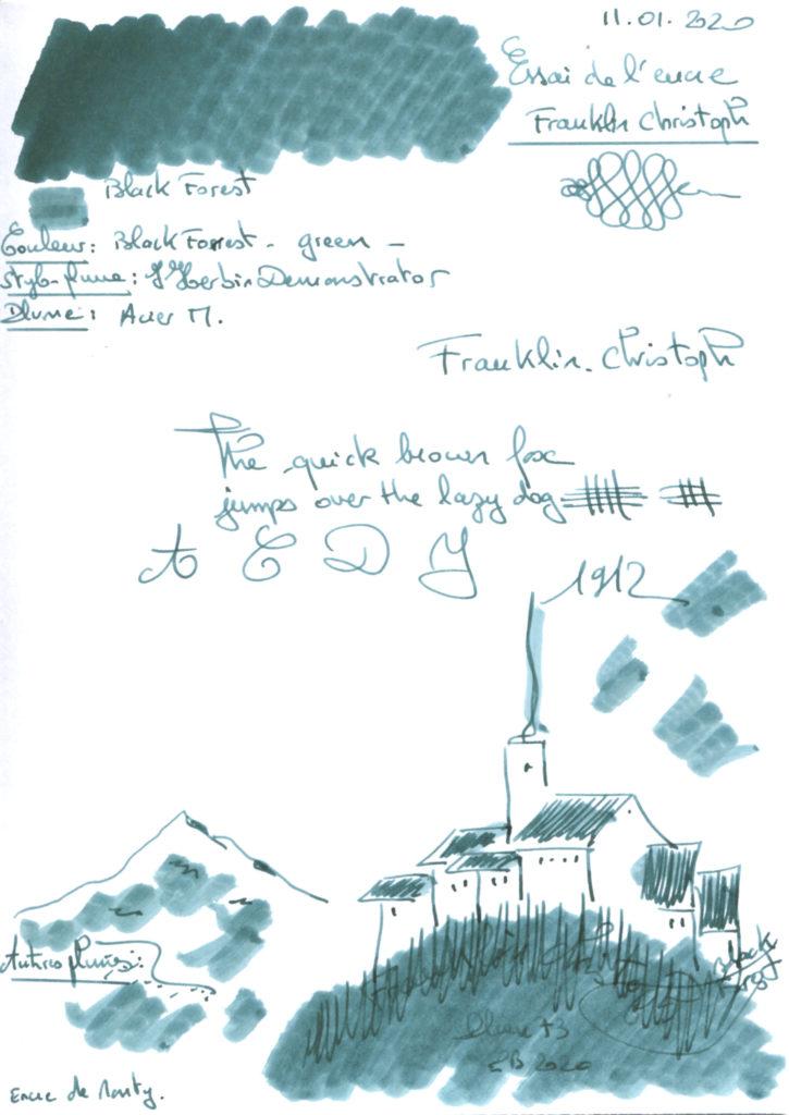 Black Forest Ink Franklin Christoph