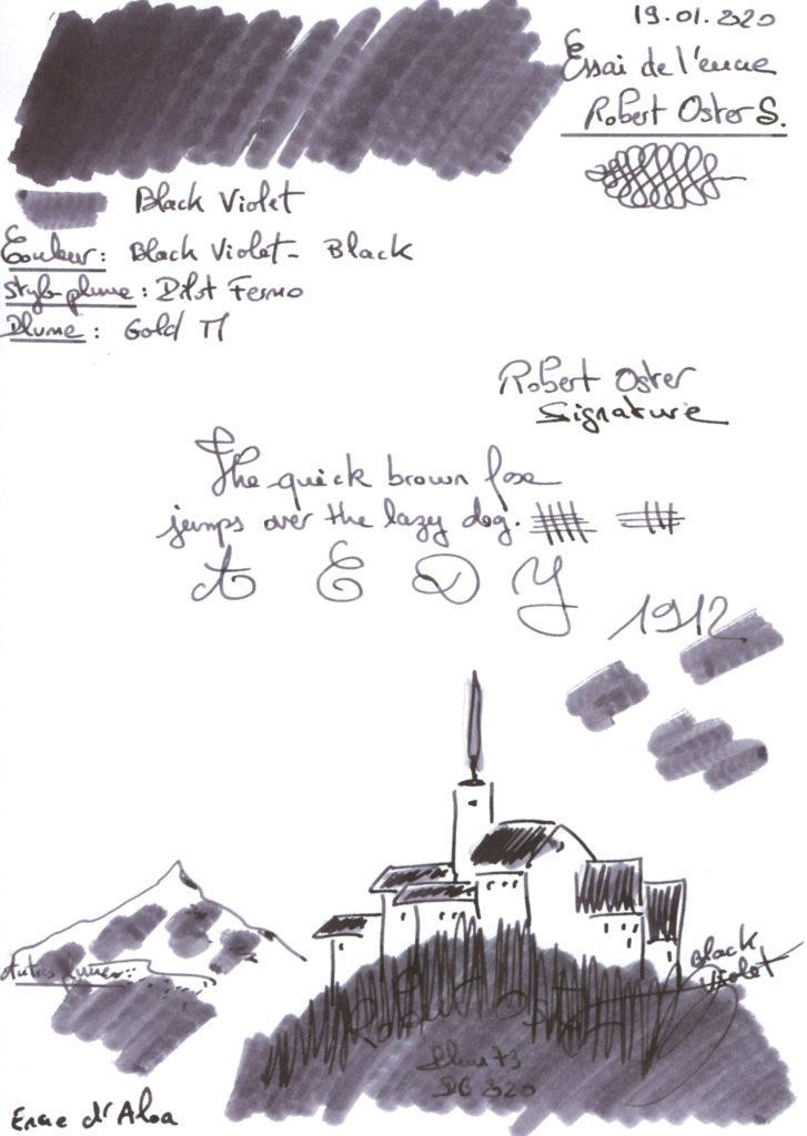 Black Violet Ink R Oster Sig