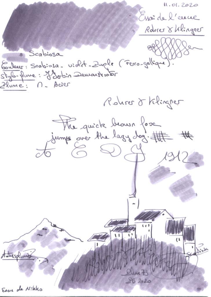 Scabiosa Ink Rohrer & Klingner