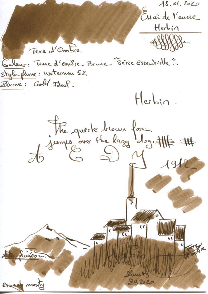 Terre d'Ombre Ink Herbin