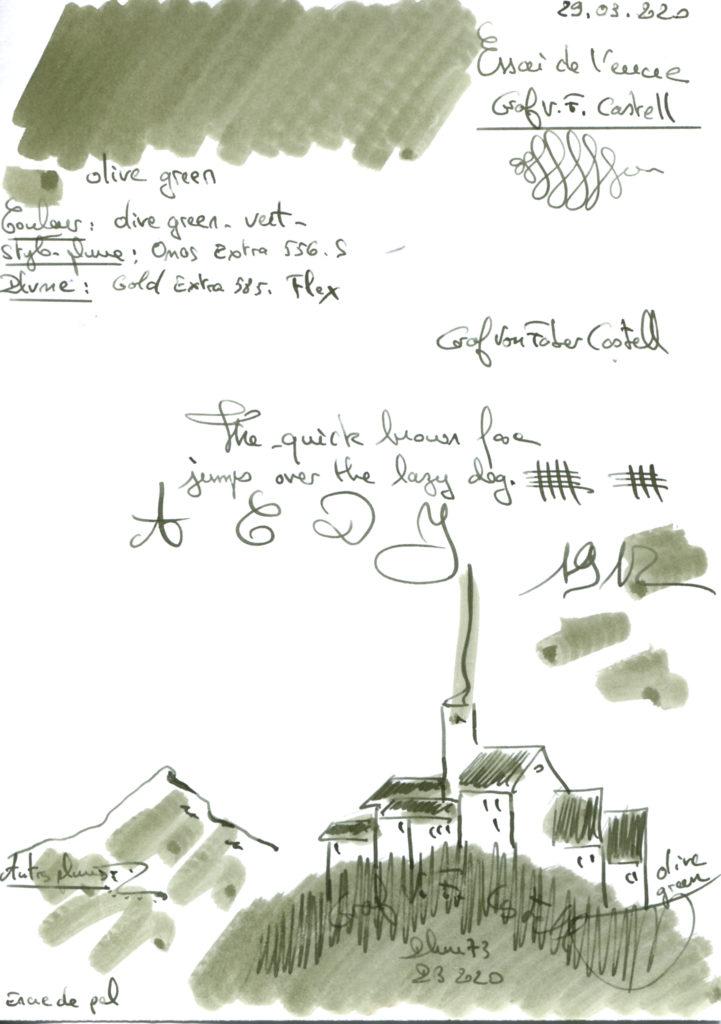 Olive Green Ink Graf VF Castell