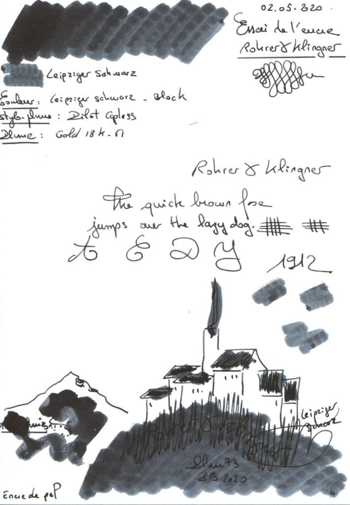 Leipziger schwarz Ink Rohrer & Klingner
