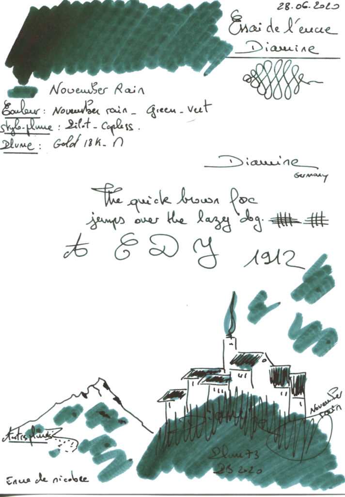 November rain Ink Diamine