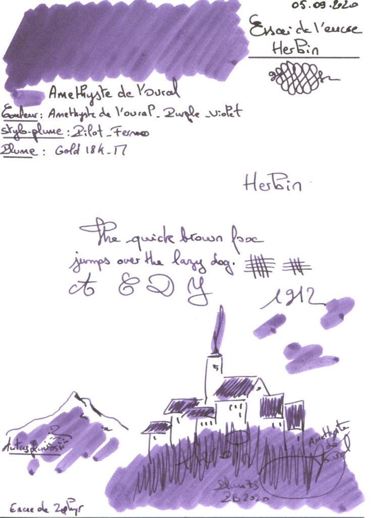 Amethyste de l'Oural Ink Herbin
