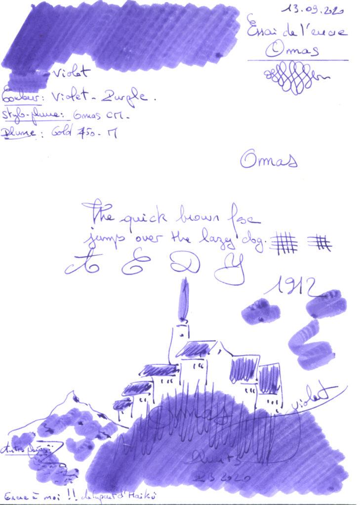 Violet Ink Omas