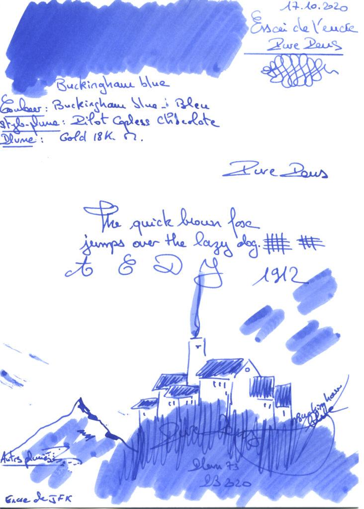 Buckingham Blue Ink Pure Pens