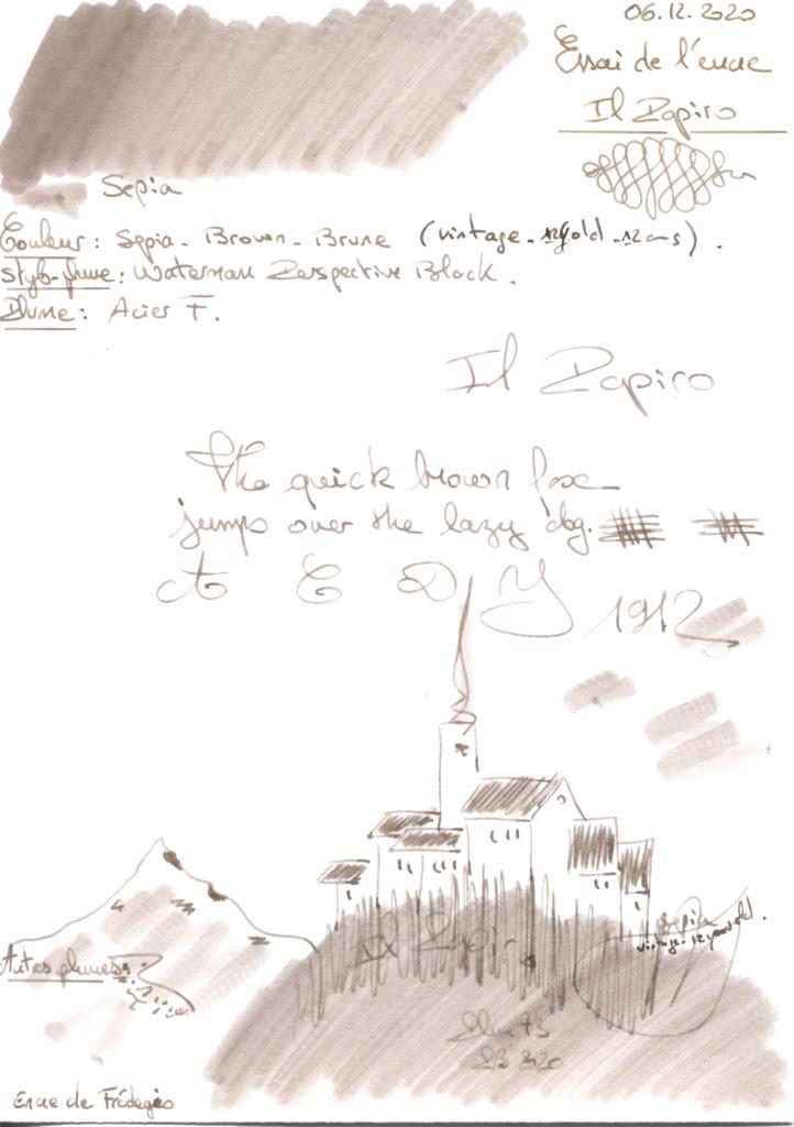 Sepia Ink Il Papiro