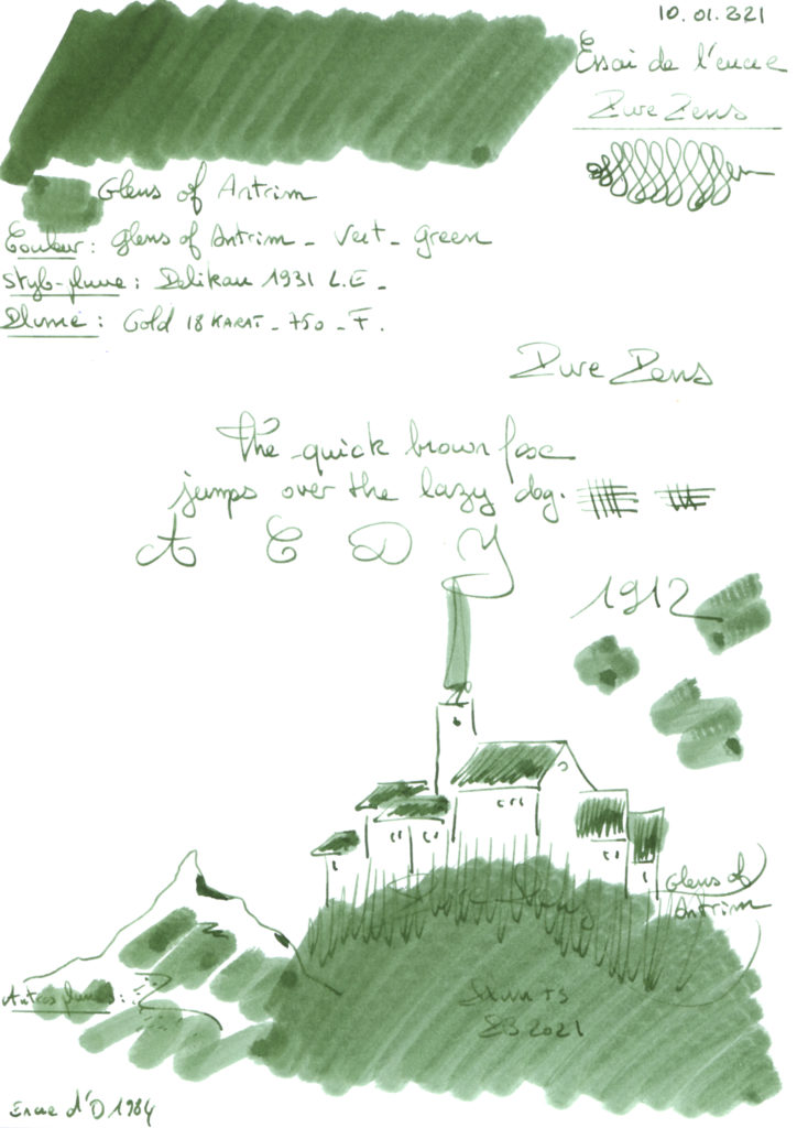 Glens of Antrim Ink Pure Pens